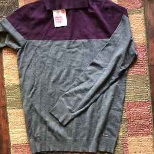 NWT Calvin Klein two tone turtleneck
